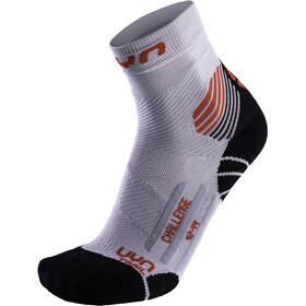 UYN Run Trail Challenge Calze Uomo, pearl grey/red